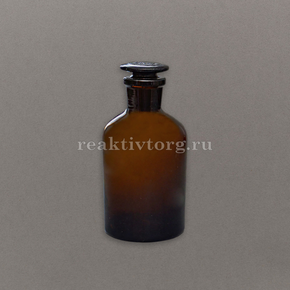 Склянка для реактивов темное стекло с узкой горловиной