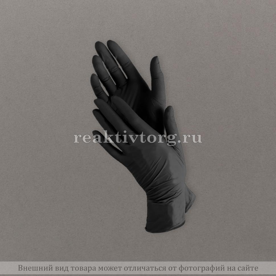 Перчатки ВENOVY нитриловые черные неопудр текстурированные на пальцах